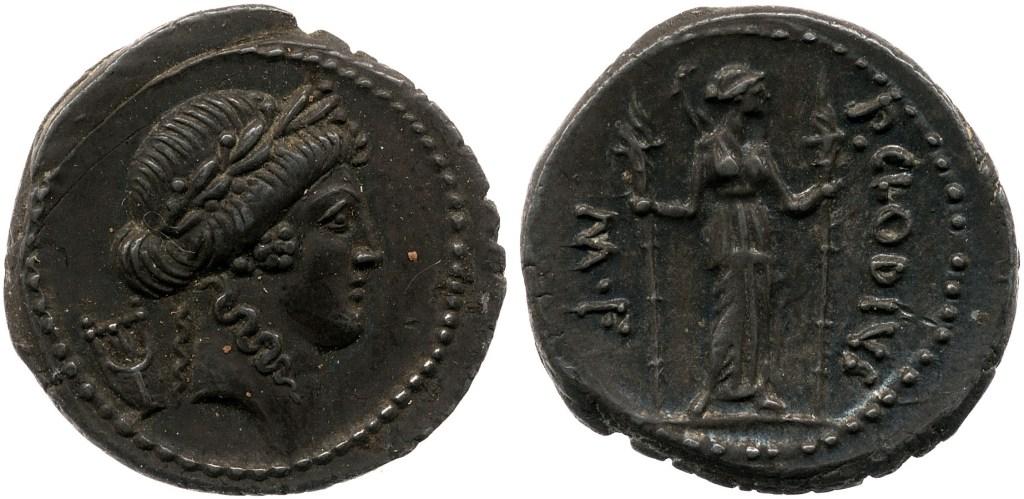 1601CL – Denier Claudia – Publius Clodius