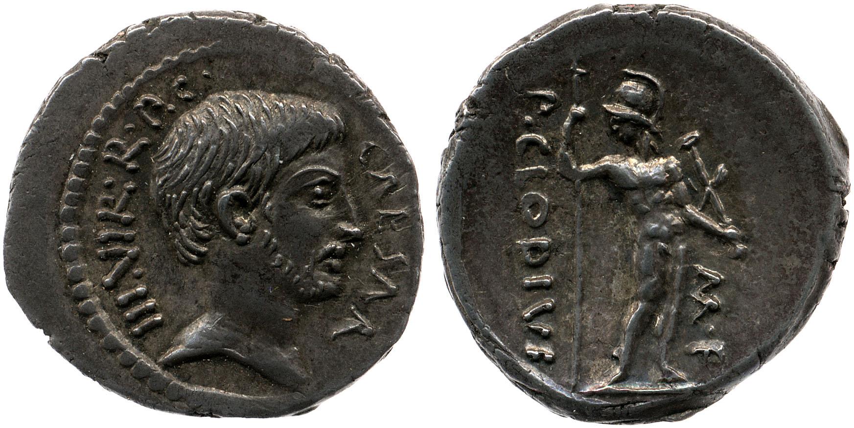 1596JU – Denier Octave – Publius Clodius
