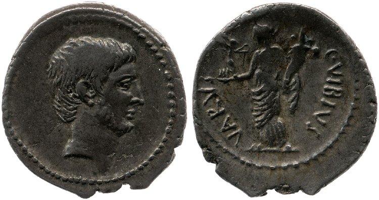 1611JU – Denier Octave – Caius Vibius Varus