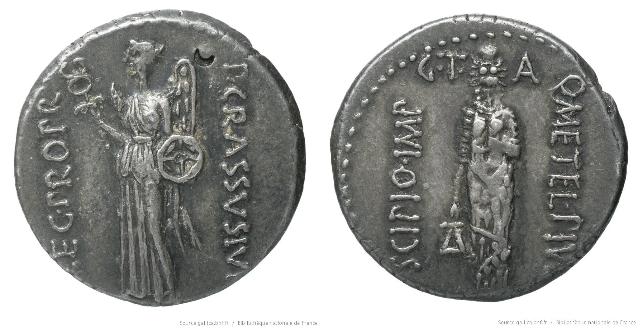 1466CA – Denier Scipion et Crassus – Q. Cæcilius Metellus Pius Scipio