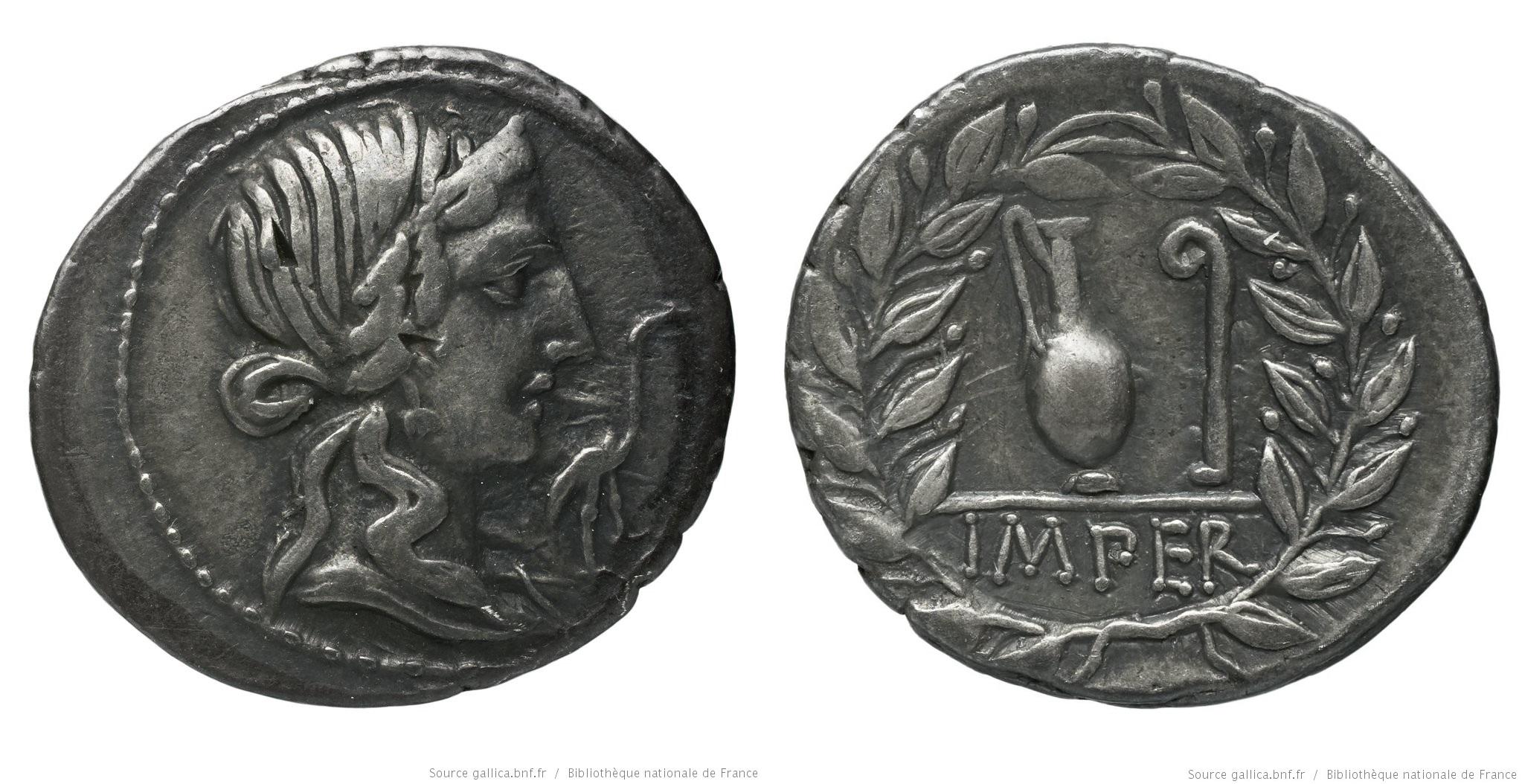 1304CA – Denier Caecilia – Quintus Cæcilius Metellus Pius