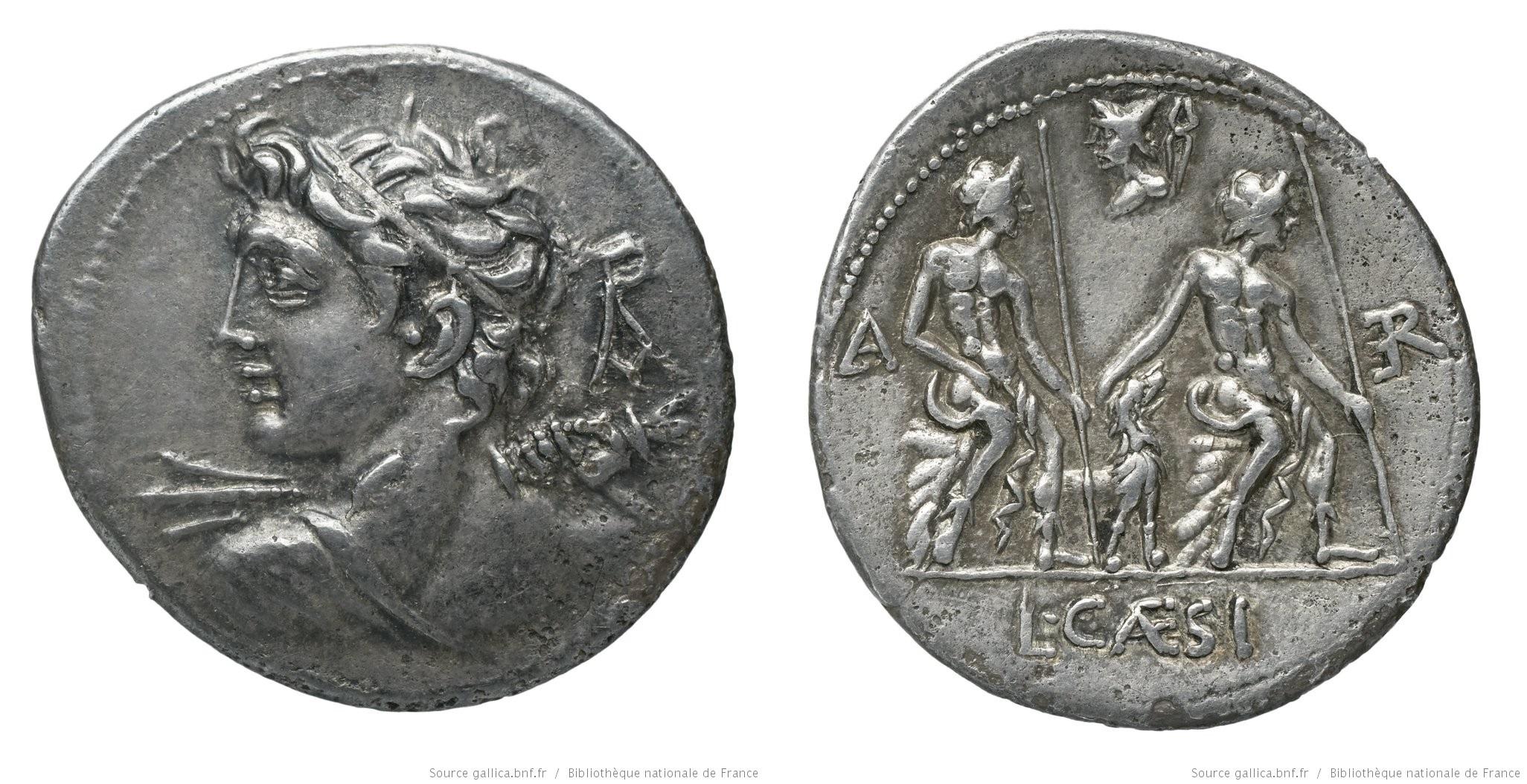 1112CA – Denier Caesia – Lucius Cæsius