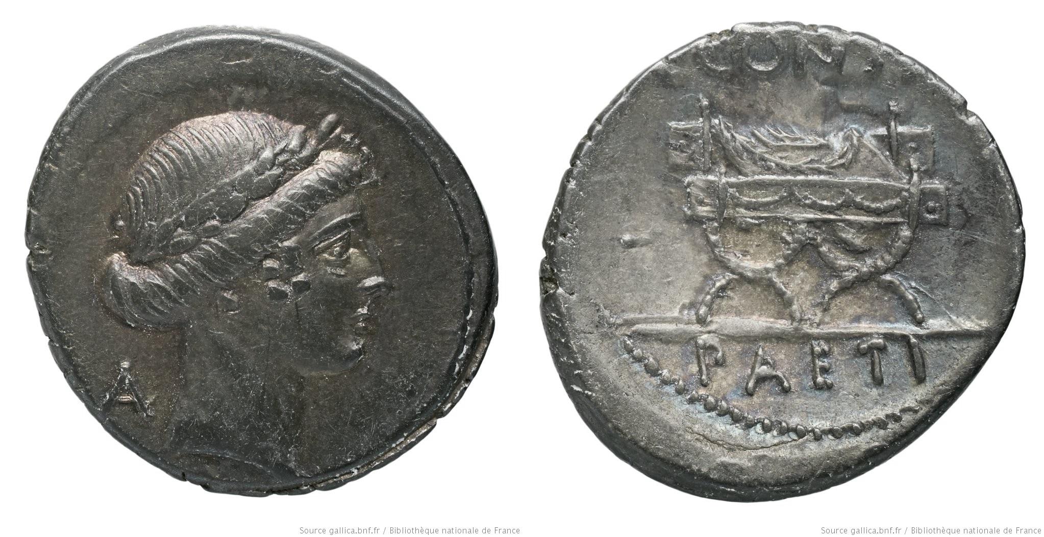 1484CO – Denier Considia – Caius Considius Pætus