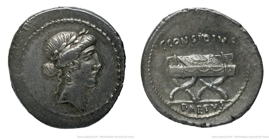 1483CO – Denier Considia – Caius Considius Pætus