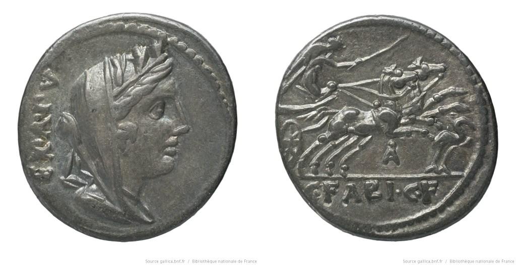 1155FA – Denier Fabia – Caius Fabius Hadrianus