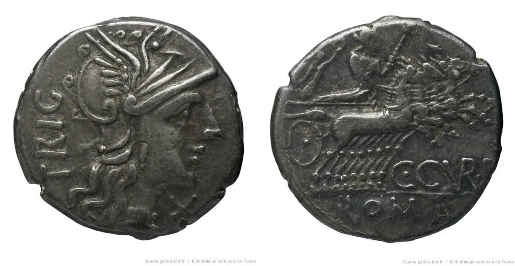 935CU – Denier Curiatia – C. Curiatius