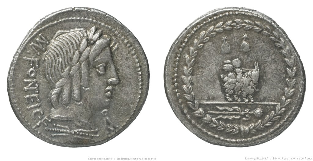 1268FO – Denier Fonteia – Manius Fonteius