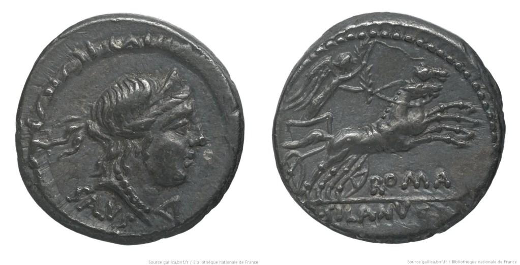 Read more about the article 1192JU – Denier Junia – Decimus Junius Silanus