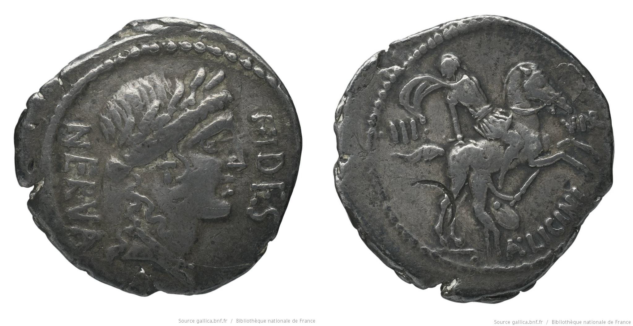 1448LI – Denier Licinia – Aulus Licinius Nerva