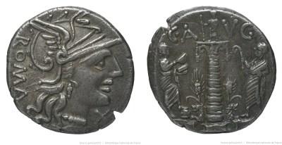 947MI – Denier Minucia –  Caius Minucius Augurinus
