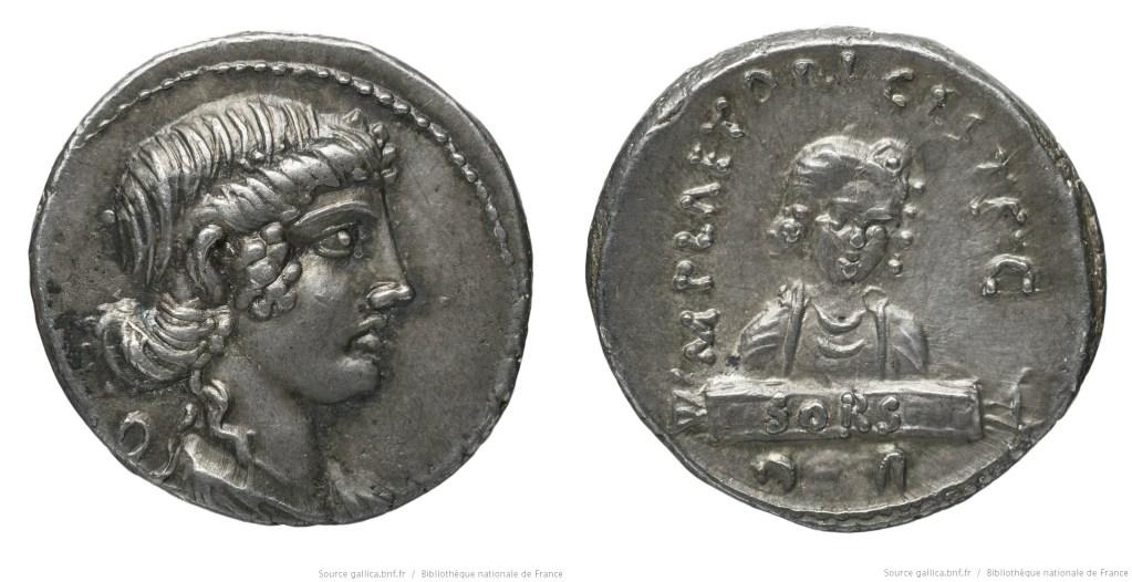 1350PL – Denier Plaetoria – Marcus Plaetorius Cestianus