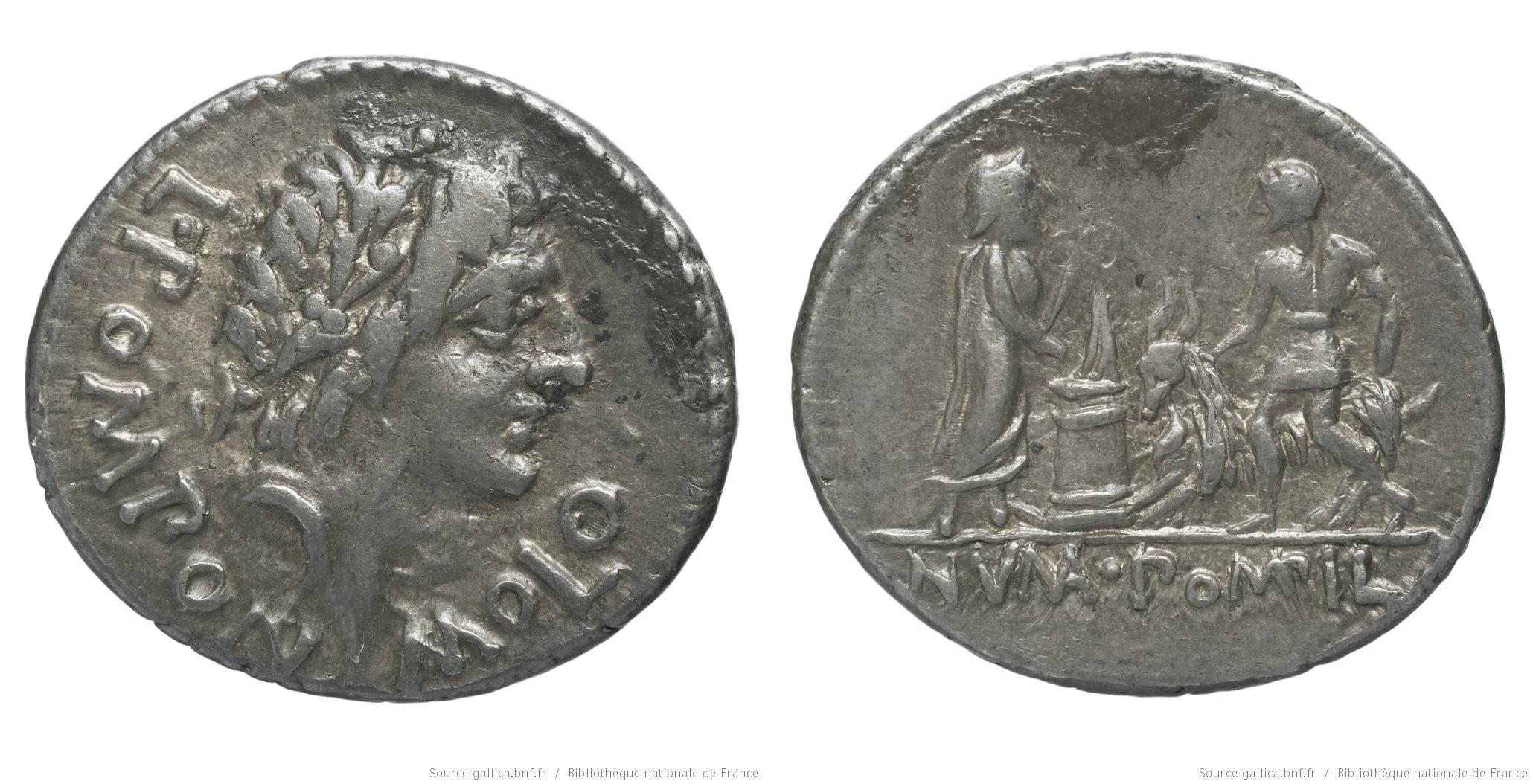 1171PO – Denier Pomponia – Lucius Pomponius Molo