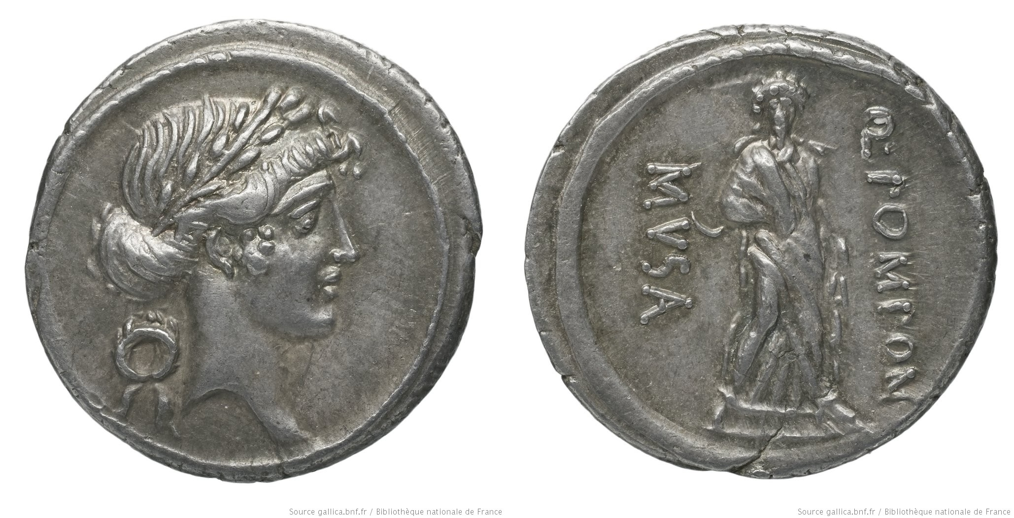 1370PO – Denier Pomponia – Quintus Pomponius Musa