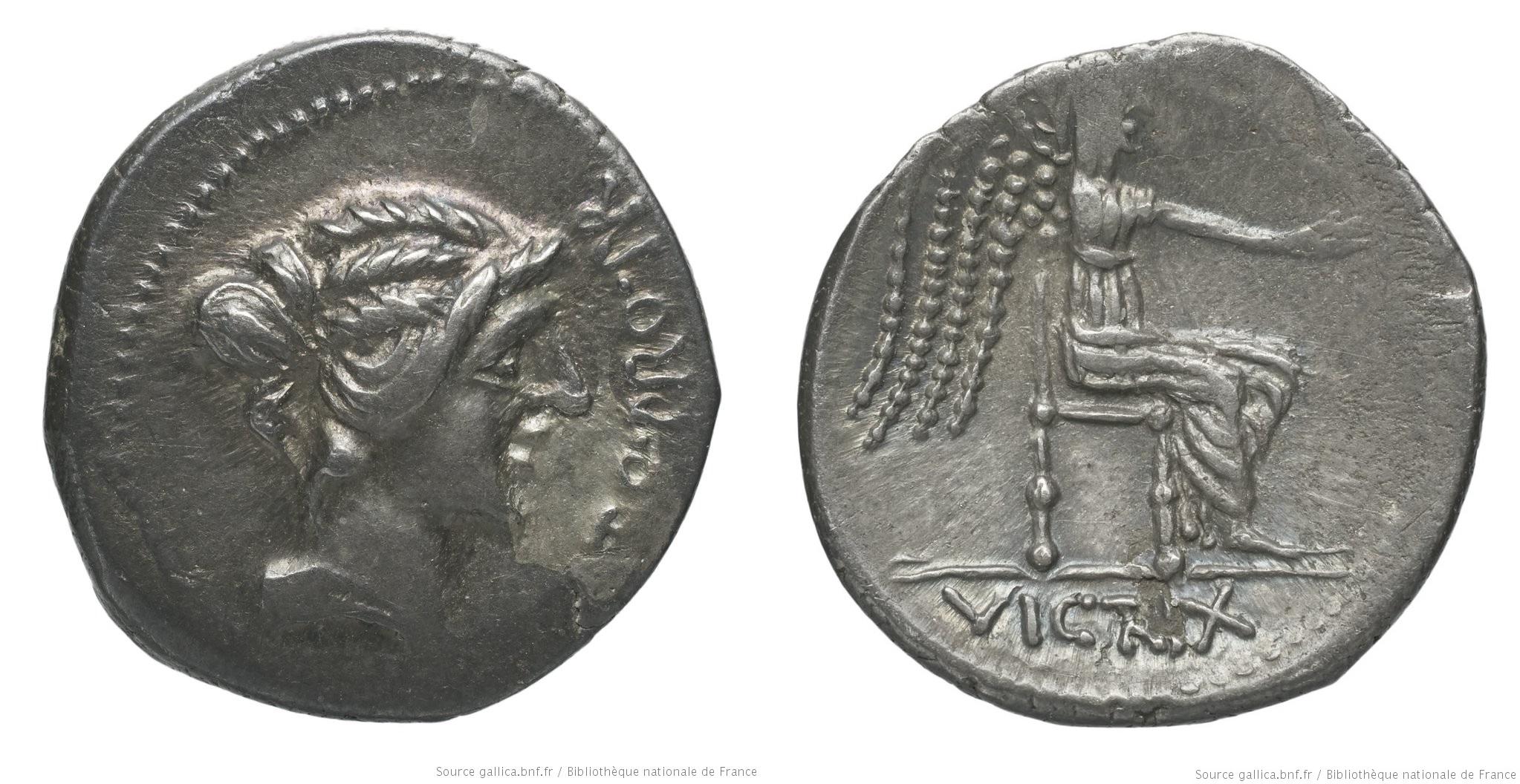 1469PO – Denier Porcia – Marcus Porcius Cato Uticensis