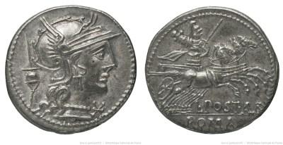 988PO – Denier Postumia – Lucius Postumius Albinus
