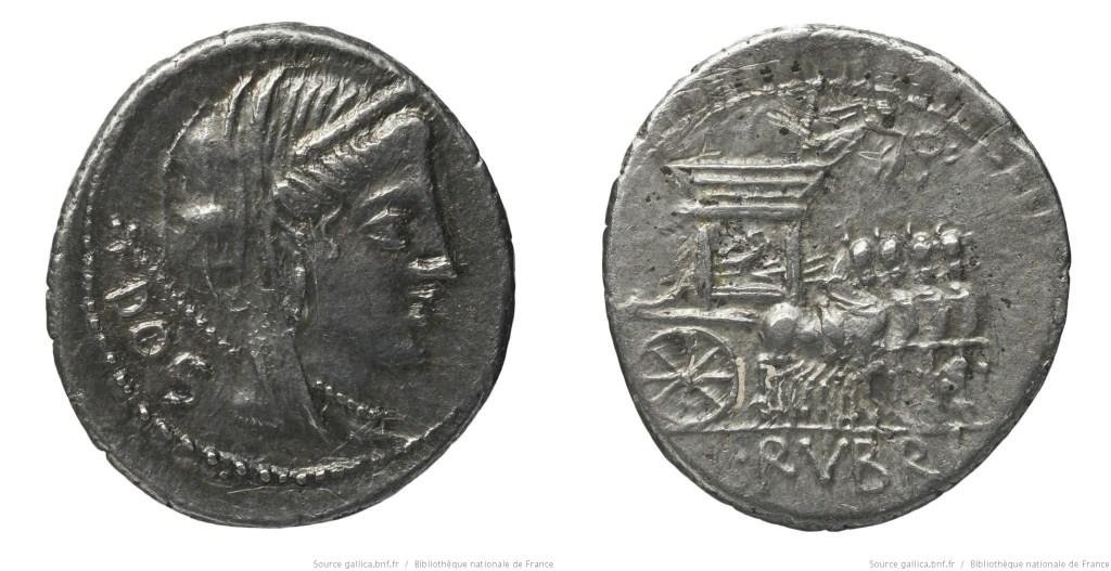1251RU – Denier Rubria – Lucius Rubrius Dossenus