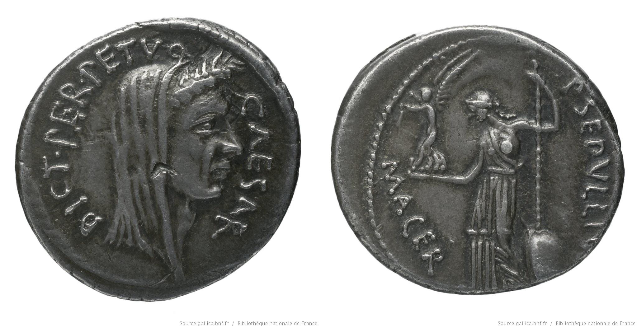 1534JU – Denier César – Publius Sepullius Macer