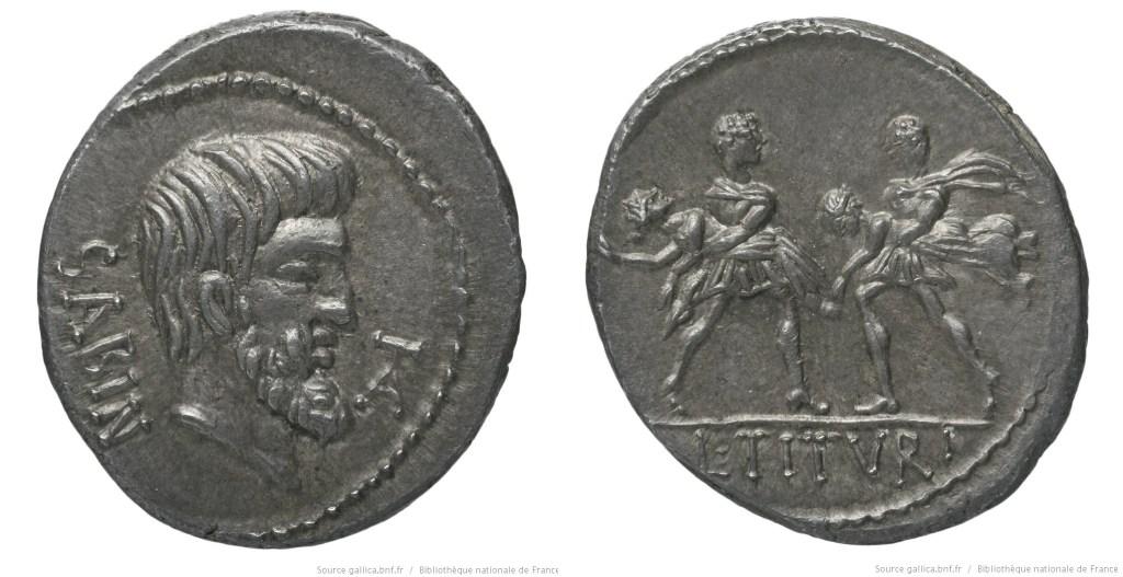 1230TI – Denier Tituria – Lucius Titurius Sabinus