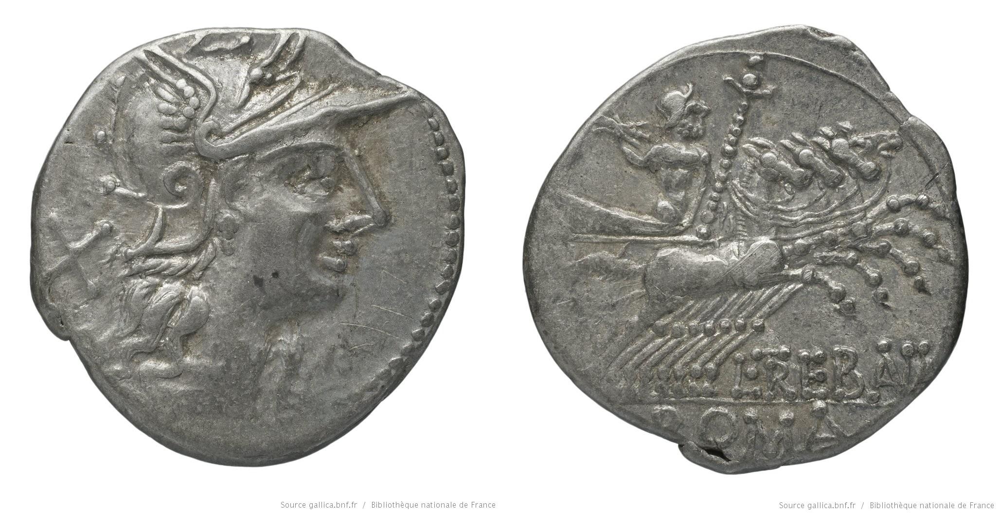 941TR – Denier Trebania – Lucius Trebanius