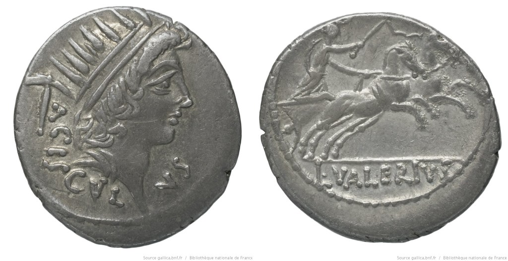1512VA – Denier Valeria – Lucius Valerius Acisculus