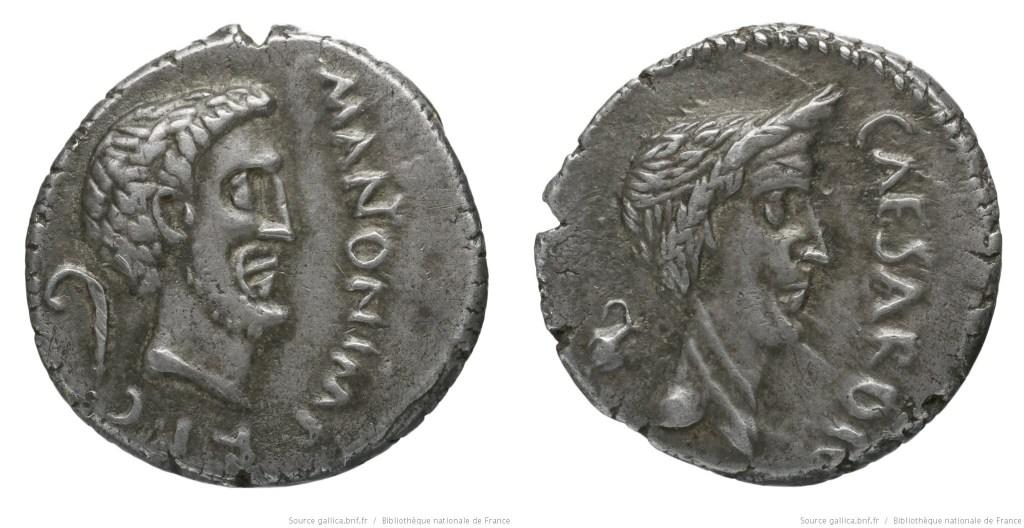 Read more about the article 1563AN – Denier Marc Antoine et César – Marcus Antonius