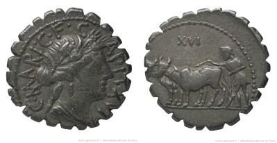 1309MA – Denier Serratus Maria – Caius Marius Capito