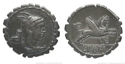1317PA – Denier Serratus Papia – Lucius Papius