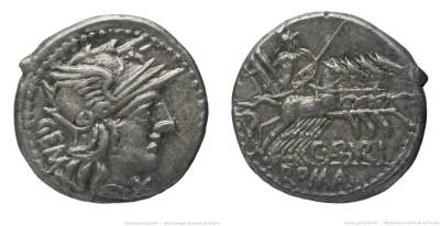 957AB – Denier Aburia – Caius Aburius Geminus