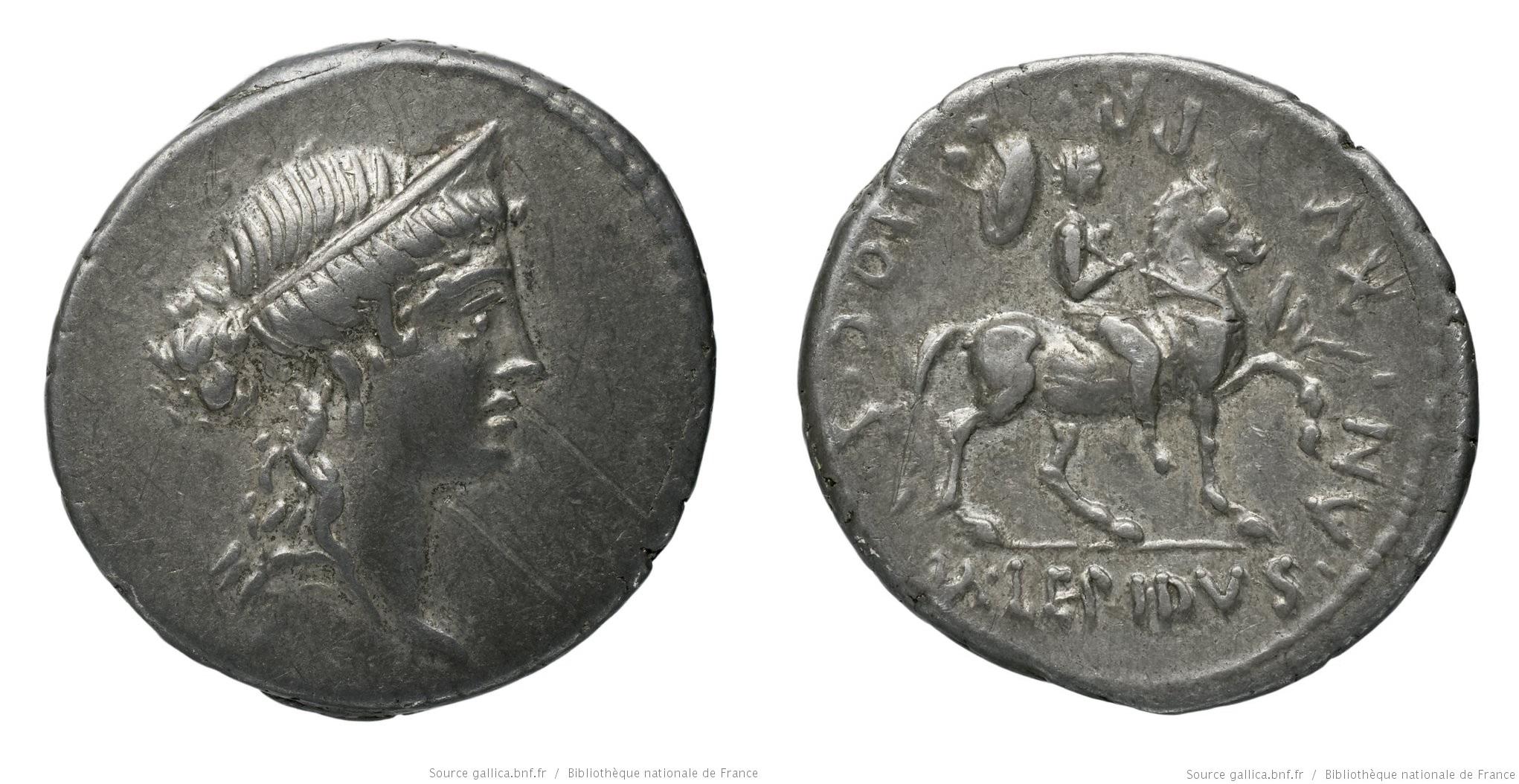 1380AE – Denier Aemilia – Marcus Æmilius Lepidus