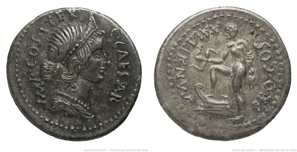 Read more about the article 1460AL – Denier César – Aulus Allienus