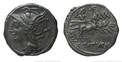 1148AP – Denier Appuleia – Lucius Appuleius Saturninus