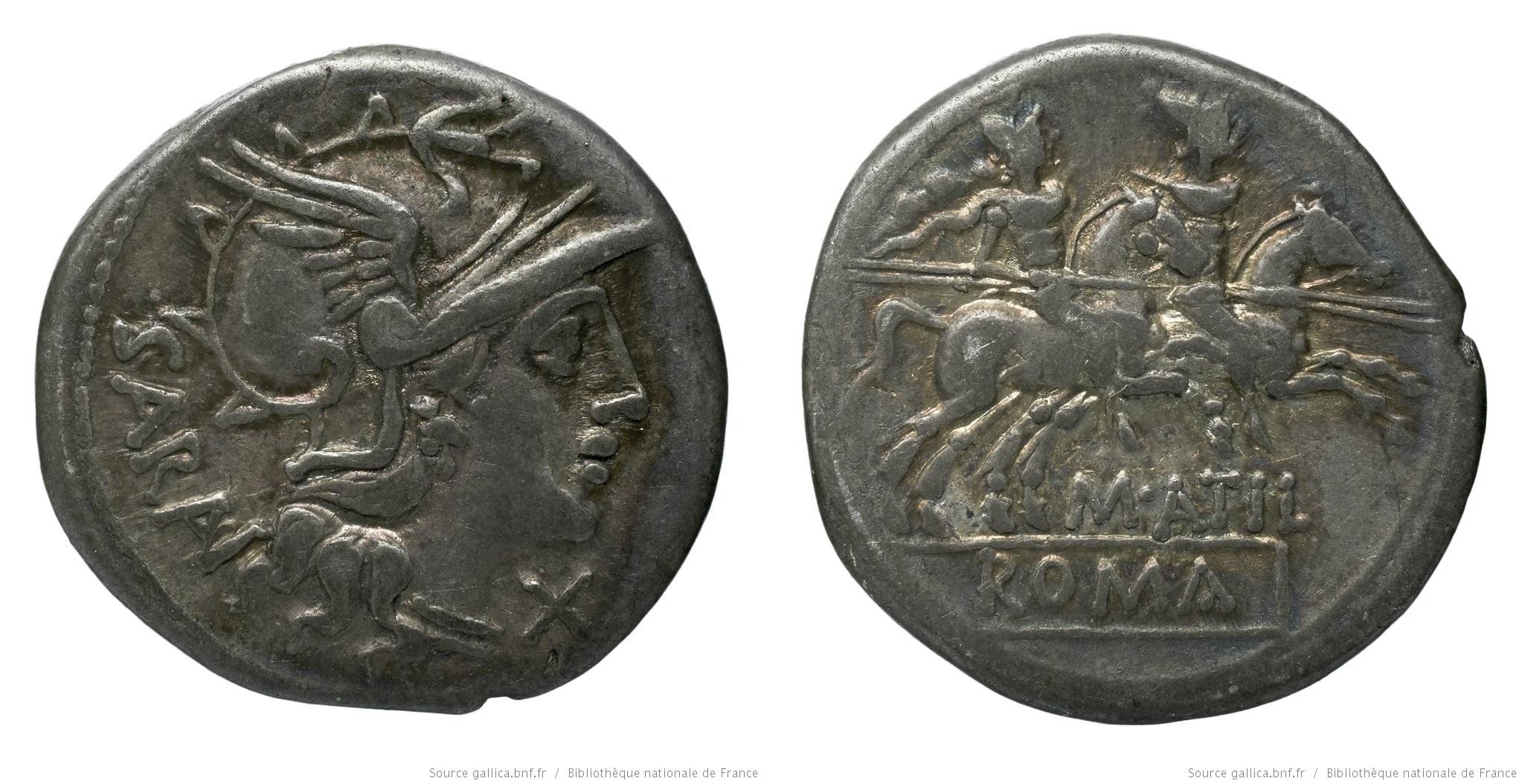 863AT – Denier Atilia – Marcus Atilius Saranus