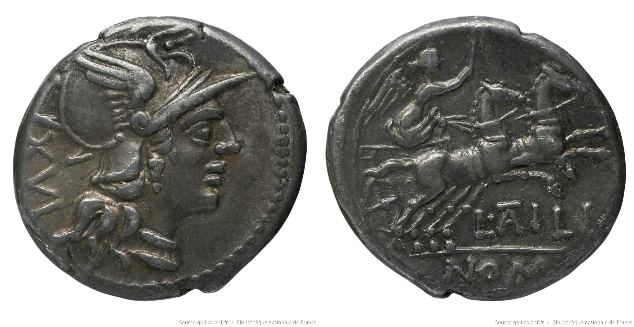 903AT – Denier Atilia – Lucius Atilius Nomentanus