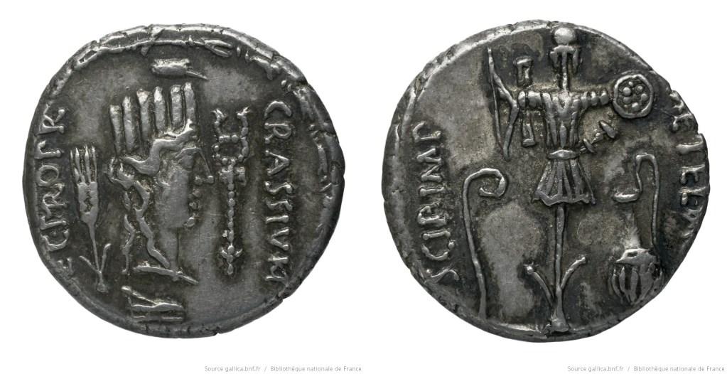 1465CA – Denier Scipion et Crassus – Q. Metellus Pius Scipio