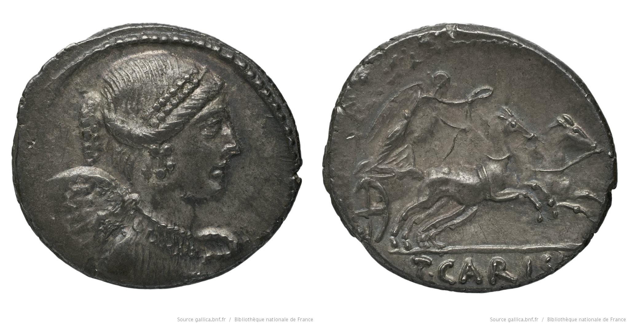 1478CA – Denier Carisia – Titus Carisius