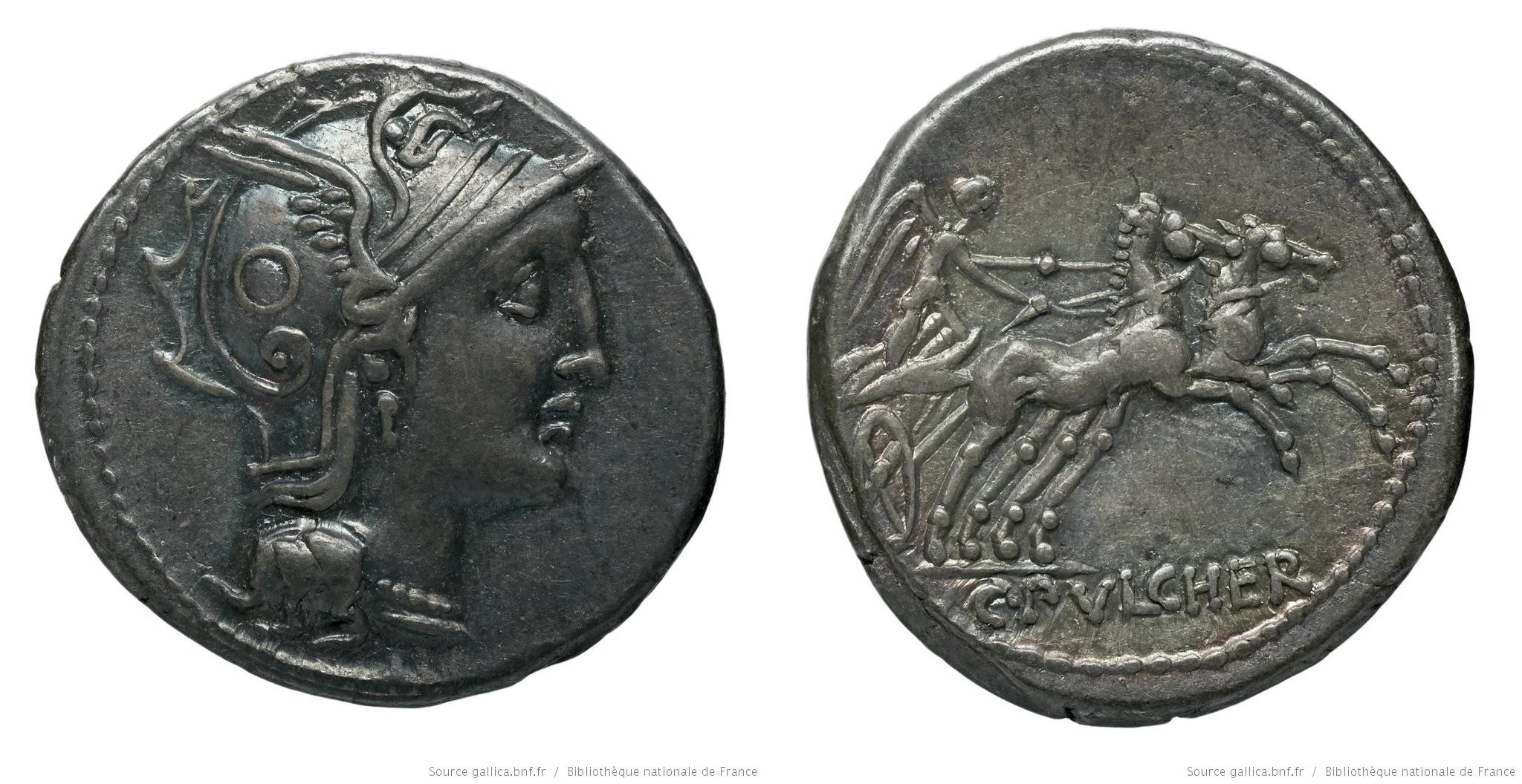1115CL – Denier Claudia – Caius Claudius Pulcher