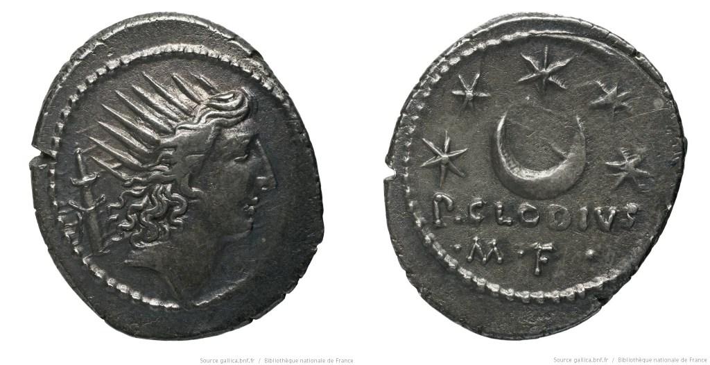 1599CL – Denier Claudia – Publius Clodius