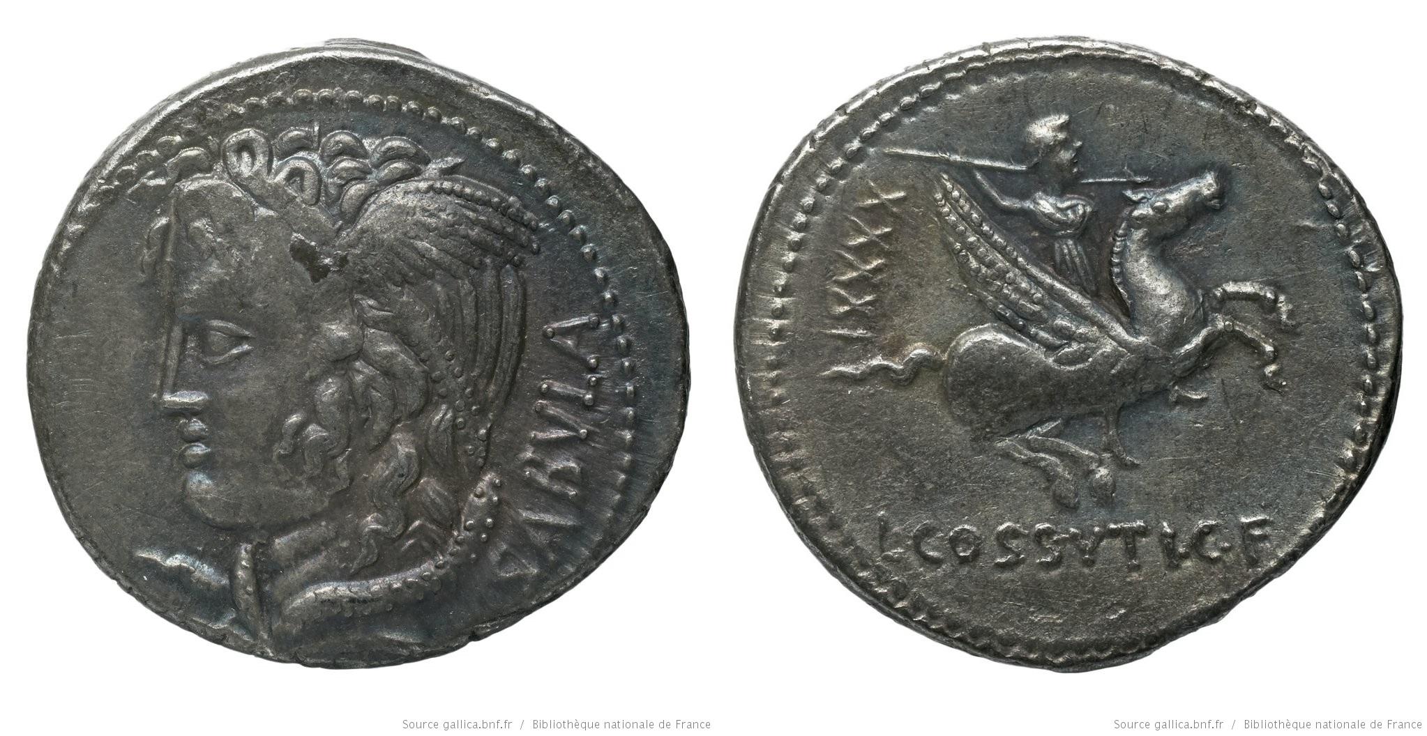 1337CO – Denier Cossutia – Lucius Cossutius Sabula