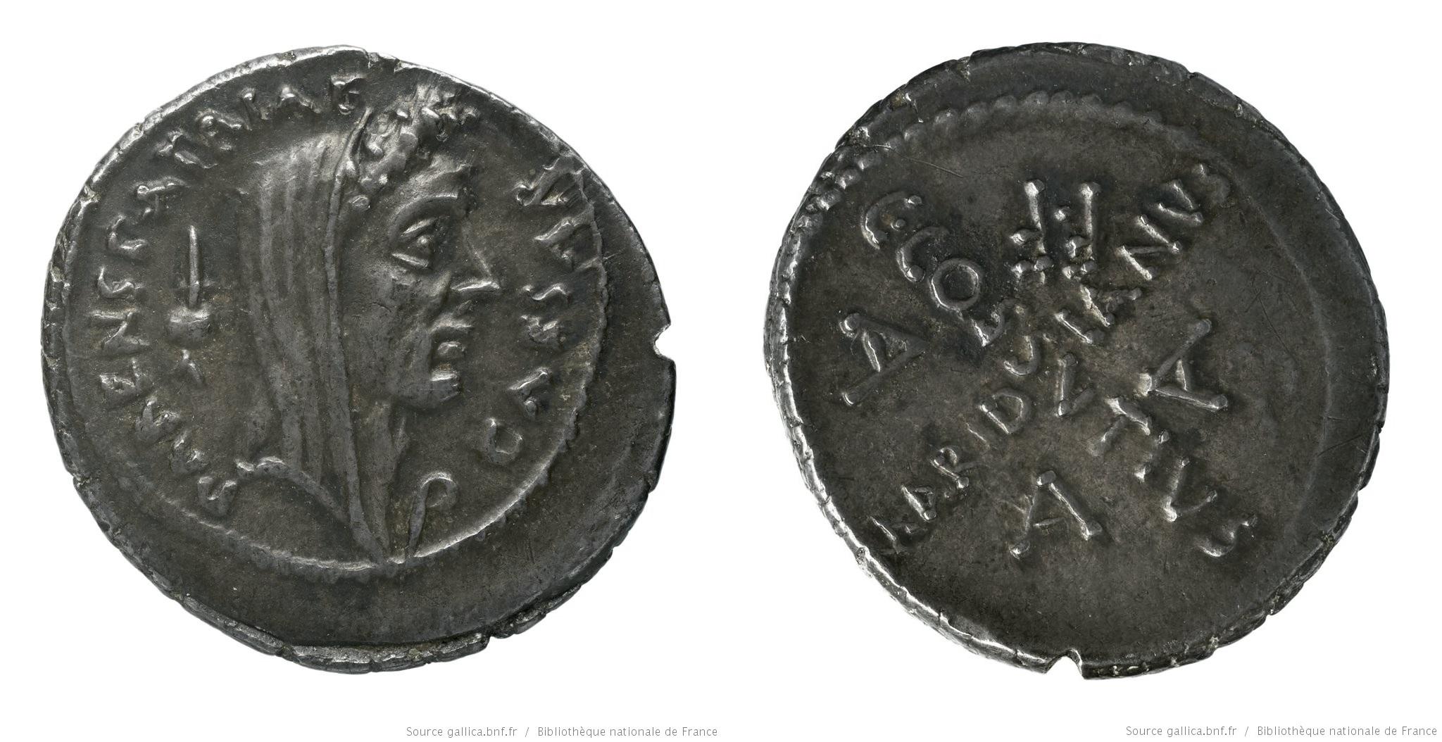 1540JU – Denier César – Caius Cossutius Maridianus