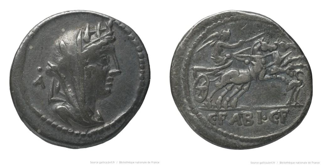 1154FA – Denier Fabia – Caius Fabius Hadrianus