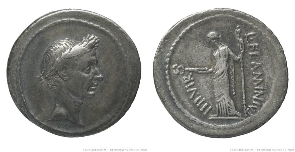 Read more about the article 1555JU – Denier César – Lucius Flaminius Chilo