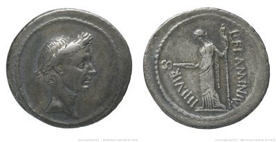 1555JU – Denier César – Lucius Flaminius Chilo