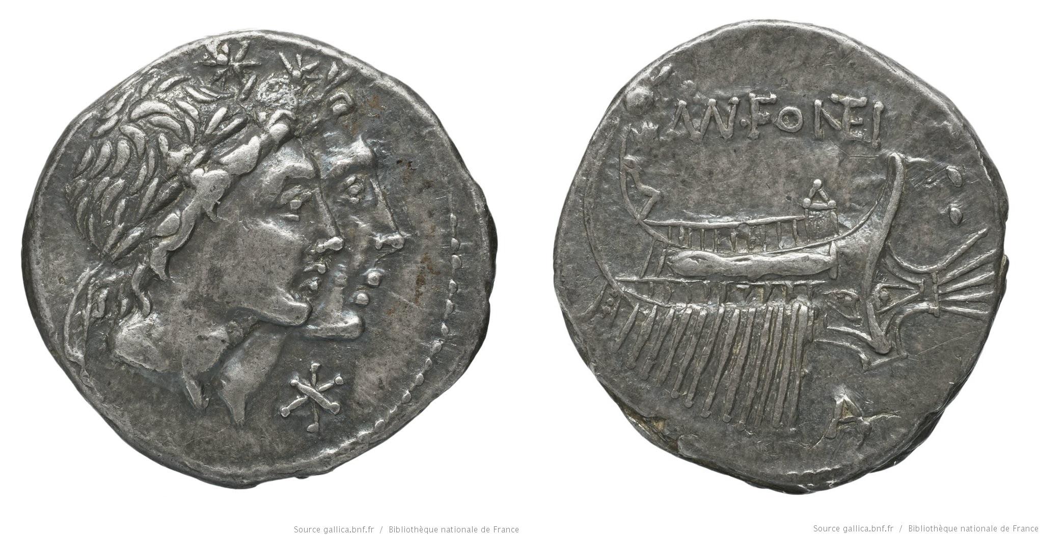 1123FO – Denier Fonteia – Manius Fonteius