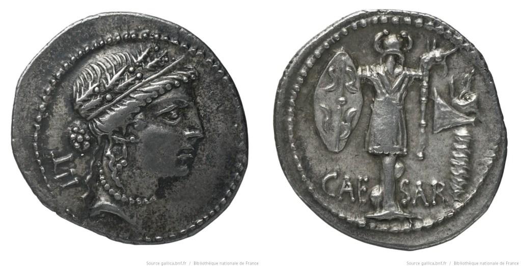 Read more about the article 1444JU – Denier César – Caius Julius Cæsar