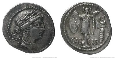 1444JU – Denier César – Caius Julius Cæsar