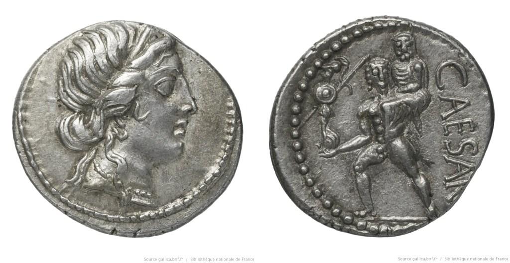 Read more about the article 1461JU – Denier César – Caius Julius Cæsar