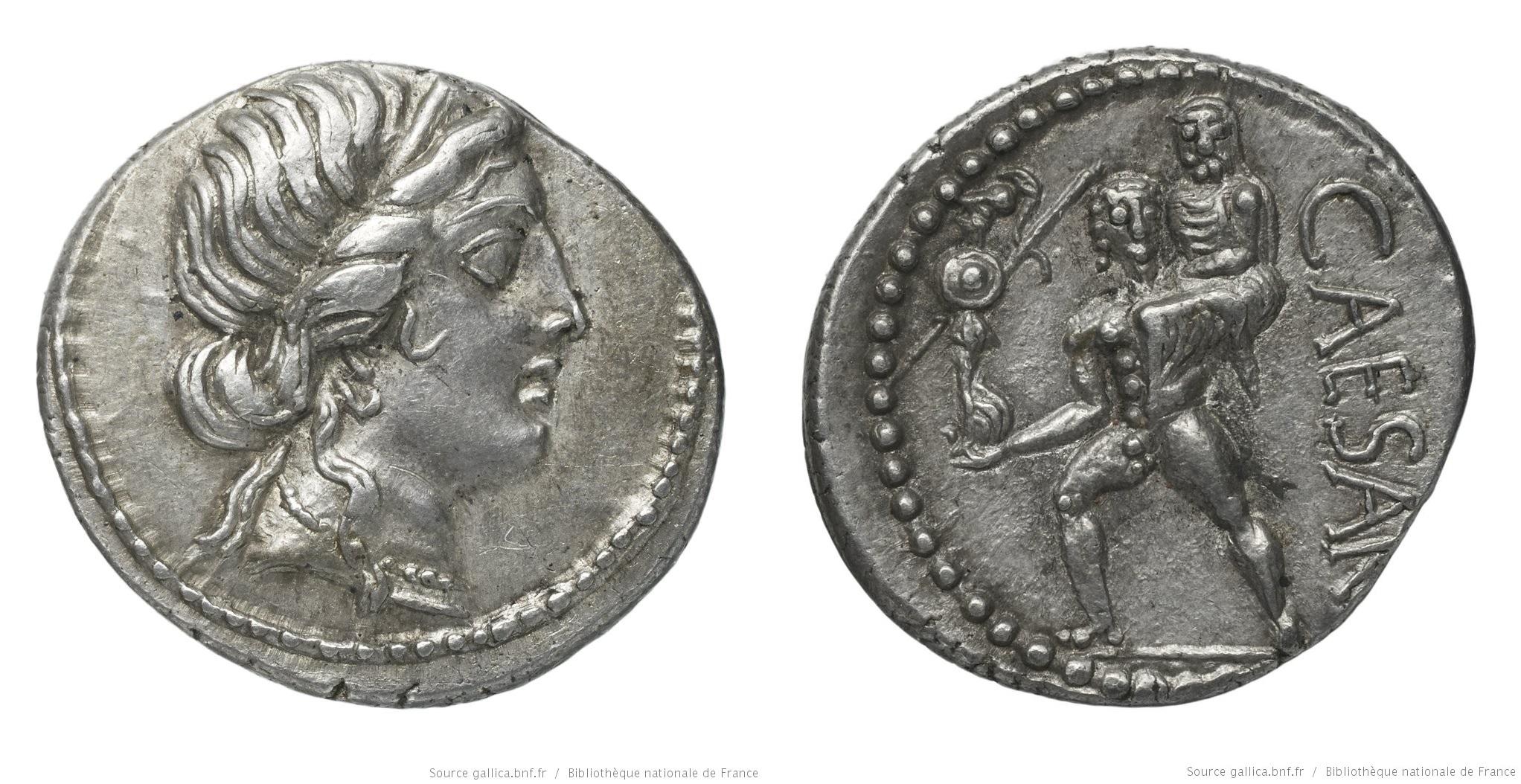 1461JU – Denier César – Caius Julius Cæsar