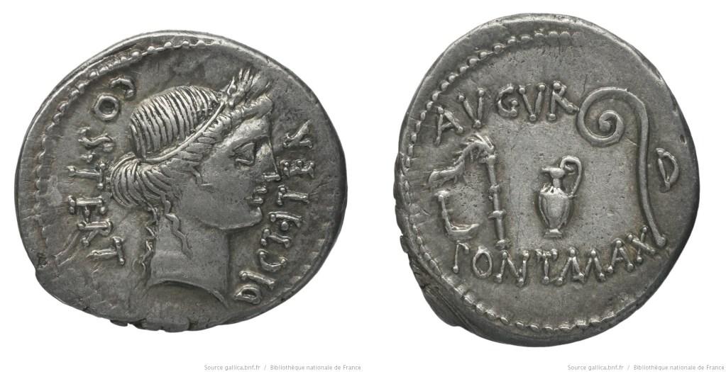 1491JU – Denier César – Caius Julius Cæsar