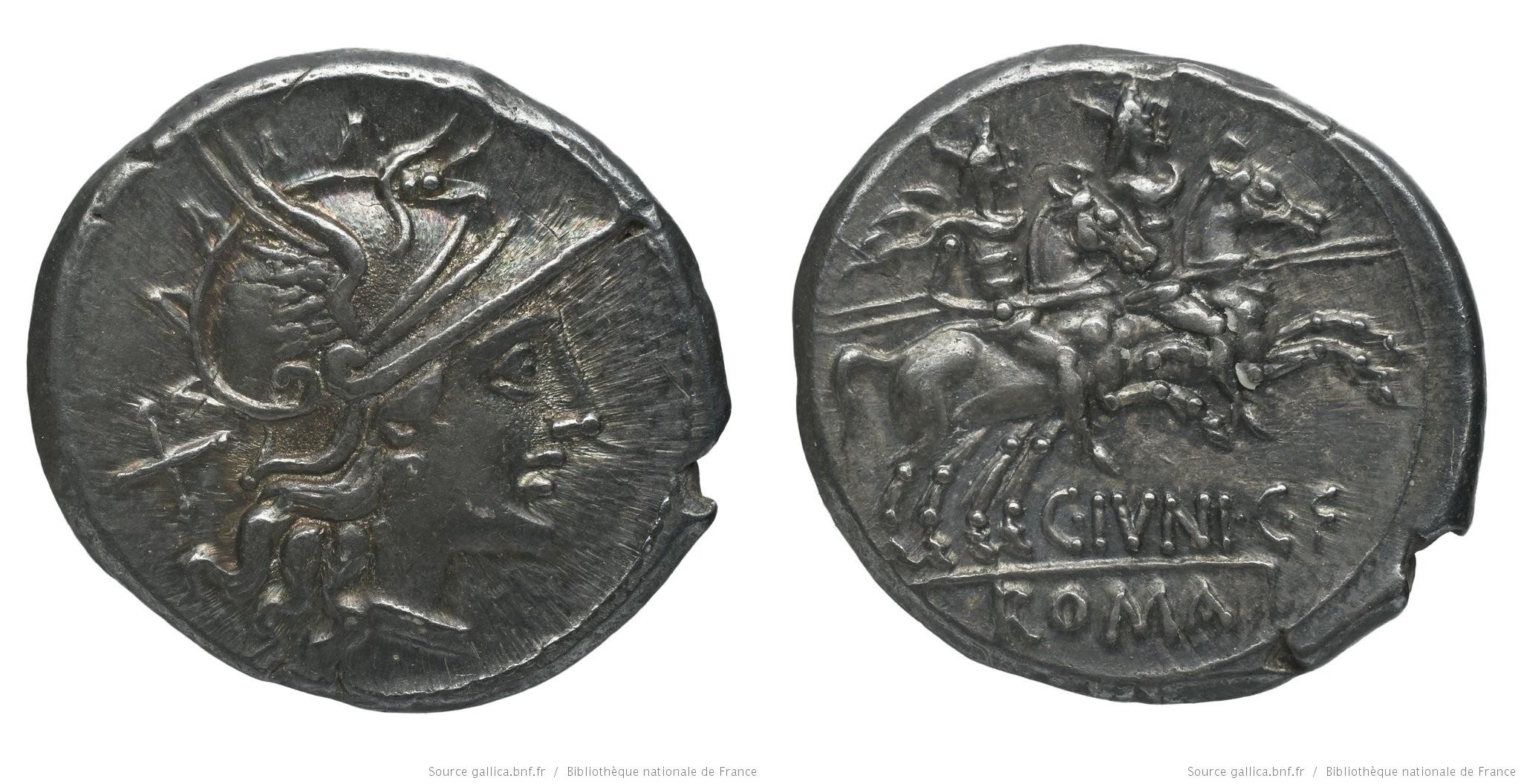 850JU – Denier Junia – Caius Junius
