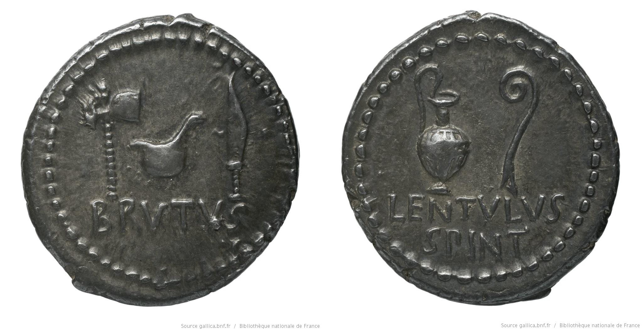 1639JU – Denier Brutus – Lentulus Spinther